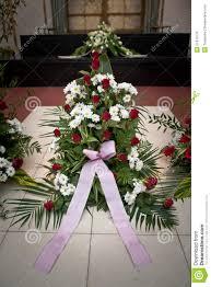 funeral ribbon funeral flowers stock photo image of floor green crematorium