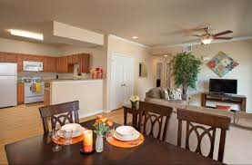 apartment apartment open plan kitchen living dining room with oak