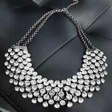 trendy necklace pendants images Collier femme trendy crystal statement necklaces pendants women jpg