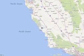 Mexico Beach Florida Map by Earthquake 3 2 Quake Strikes Near San Simeon La Times
