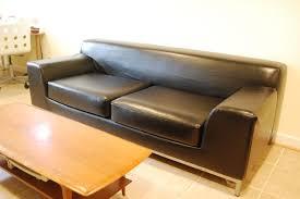 Ikea 2 Seater Leather Sofa For Sale Ikea Kramfors Brown Leather 3 Seater Sofa Sofas