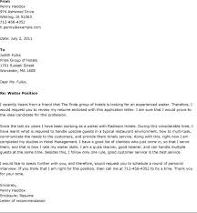 waiter cover letter 8 of application nardellidesign com