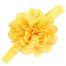 yellow headband yellow color headband stylish hairband orange flower hair tie