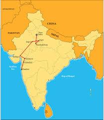 Odyssey Map Indian Sojourn Mumbai To Delhi By Luxury Deccan Odyssey Train
