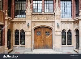 neo gothic style entrance urban apartment stock photo 59832475