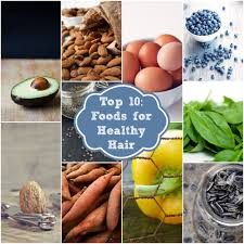 top 10 foods for healthy hair rainbow delicious