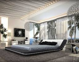 Platform Bed With Lights Margo Contemporary Leather Platform Bed With Led Lights