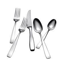 Modern Flatware Sets by Yamazaki Bolo 42 Piece Flatware Set In Silver Stainless Steel