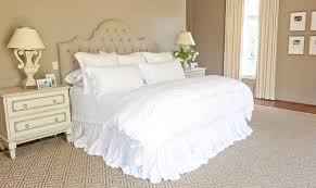 White Ruffle Bed Skirt French Master Bedrooms French Bedroom Munger Interiors