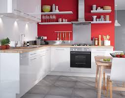 meuble cuisine moderne castorama cuisine gossip blanc une cuisine moderne et éclatante