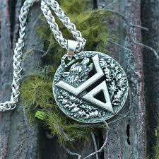 aliexpress men necklace images Buy 1pcs viking bear pendant veles symbol pendant jpg