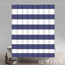 Nautical Striped Curtains Fabric Geometric Shower Curtain Nautical Stripe Design Navy And