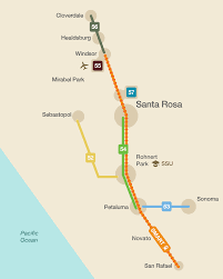 Route 66 Map How Long To Drive by Sonoma County Transit