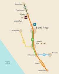 Sonoma California Map Sonoma County Transit