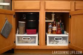 kitchen sink storage ideas organizing the cabinet the kitchen sink lansdowne