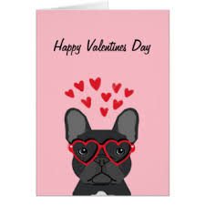 happy valentines day bulldog cards greeting photo cards zazzle