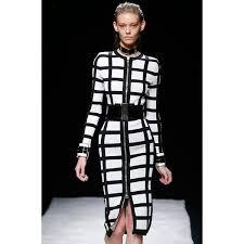 black u0026 white front zipper long sleeves pencil dress bandage dress