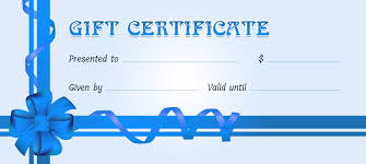 business gift certificates for all events professional
