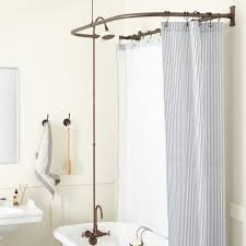 Bathroom Tub To Shower Conversion Gooseneck Clawfoot Tub Shower Conversion Kit D Style Solid Brass