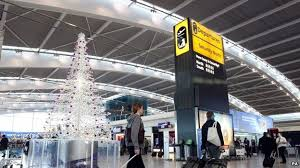 airports busy for christmas eve but roads quiet bbc news