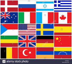 Conutry Flags Collage Of Many Different Countries Flags International