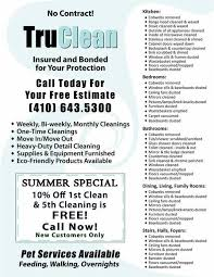 free house cleaning flyer templates housekeeper flyers templates hatch urbanskript co
