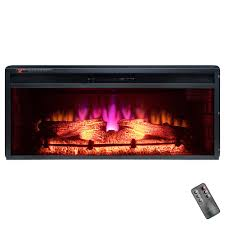 akdy 36 in freestanding electric fireplace insert heater in black