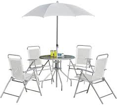 cheap outside table and chairs buy simple value 4 seater metal patio set garden table and chair