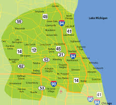 Chicago Heights Map by Serviceareamap