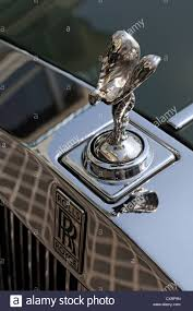rolls royce front emily hood ornament of a rolls royce parked in front of the stock