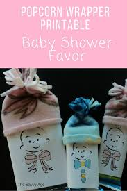 easy baby shower favors no sew baby shower favor diy popcorn wrapper printable the
