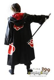 Sasuke Halloween Costumes Akatsuki Cloak Cape Team Hawk Naruto Costumes