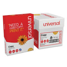 paper ream box universal white copy paper 5 reams officesupply