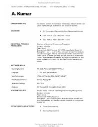 resume format for freshers engineers ecet career objective for hr resume good looking human resources
