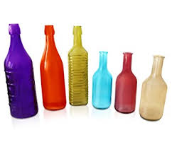 Indoor Home Decor Amazon Com Colorful Bottles 6 Piece Colored Bottle Set For