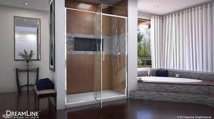 dreamline flex 60 inch shower door in chrome pivot opening youtube