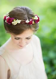 floral headpiece rustic wedding bridal hair accessory floral headpiece burgundy