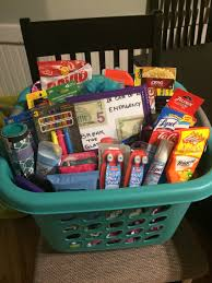 college gift baskets high school graduation gift i made for my cousin who s leaving to