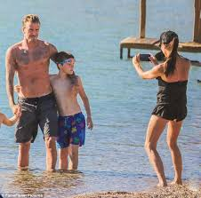 beckham takes family photos during greece daily