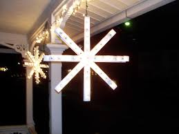 Lighted Snowflakes Outdoor by How To Make An Outdoor Lighted Snowflake The Home Depot Community
