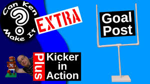 make a goal post from pvc see the toy kicker in action youtube