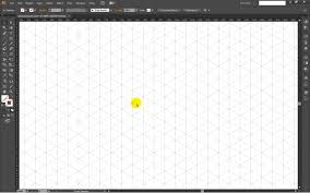 how to draw isometric grid template in adobe illustrator
