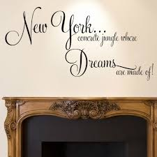 new york wall sticker quote dreams home bedroom decal art new york wall sticker quote dreams home bedroom decal art