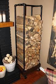 fireplace wood storage box brass log holder home biz pertaining