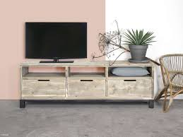 Wohnzimmer Wohnideen Bauholz Tv Schrank Im Industriellen Design Mit Stahl Küche