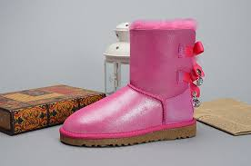 black friday uggs black friday ugg bailey bow bling i do 1004140 leather womens pink