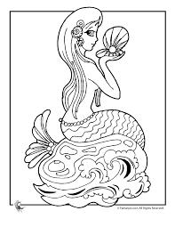 mermaid coloring 1 woo jr kids activities