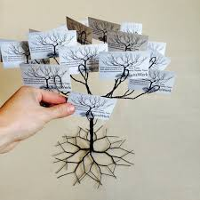 wedding wishing tree business card holder display stand and