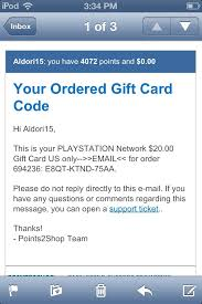 playstation gift card 10 points2shop earn points for free rewards