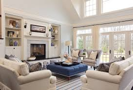 decor living room with upholstered ottoman coffee table and